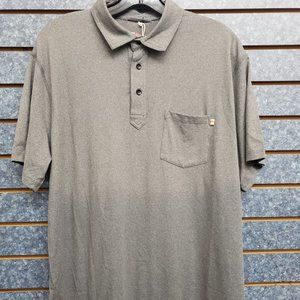 Marine Layer Mens Sport Polo Short Sleeve Shirt L
